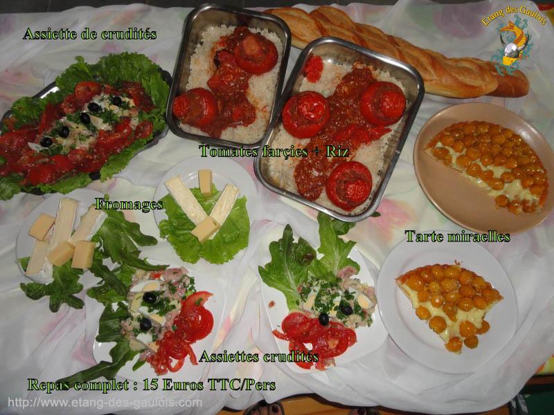 Repas complets Tomates Farcies + Riz