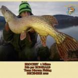 1 BROCHET  1 Mètre  Pris par ROMUALD Team Morvan Fishing  DECEMBRE 2015