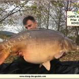 1 Carpe miroir 21,4kg Prise Avec Mario NOV 2018